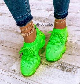 Kick It Sneakers Neon Green
