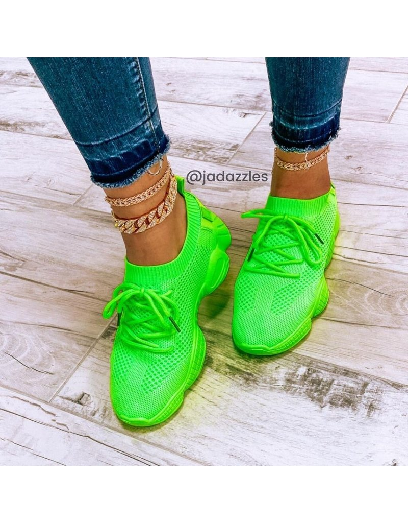 Kick It Sneakers Neon Green