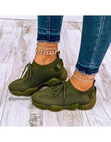 Kick It Sneakers Olive