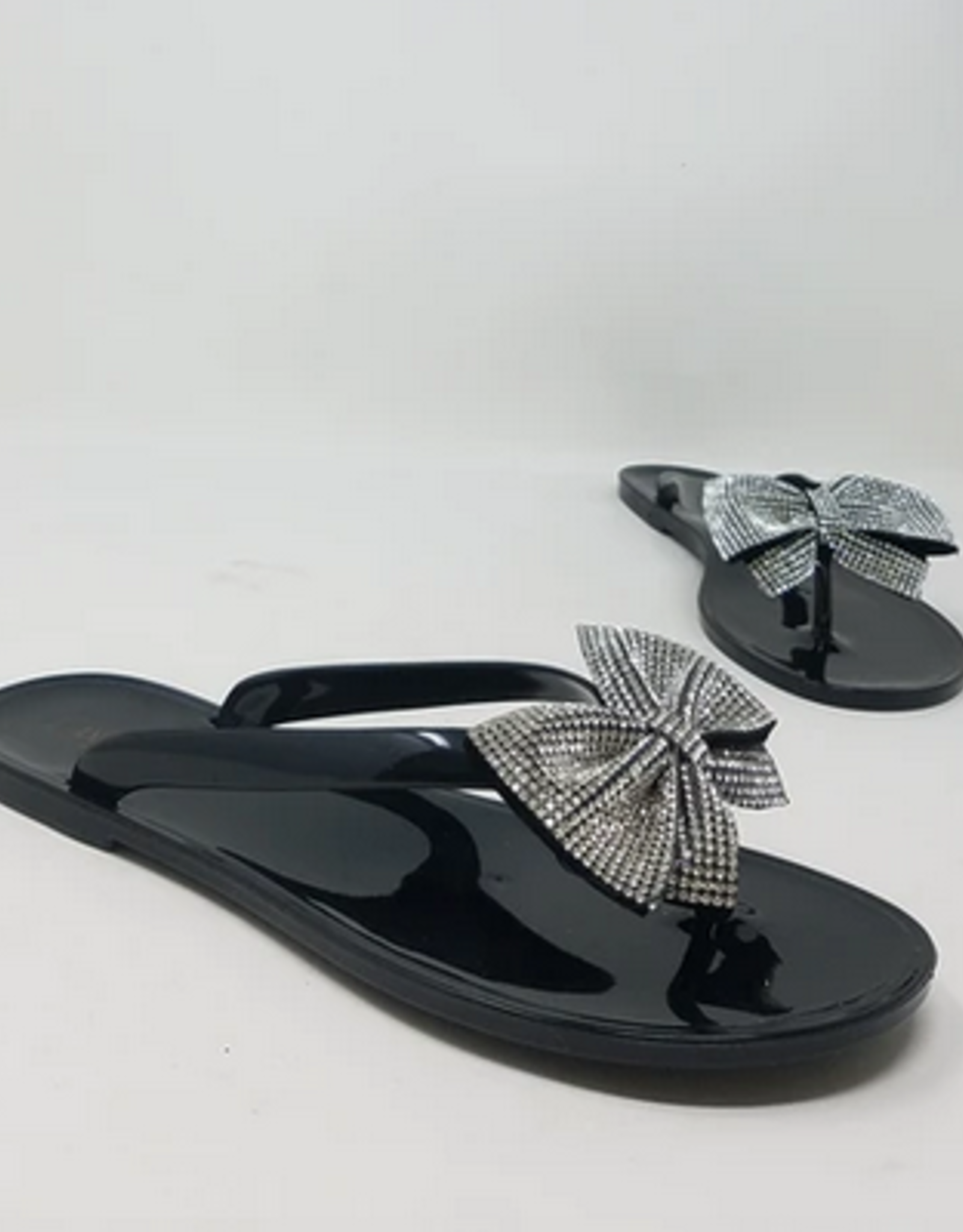 Lucky Bow Sandals Black