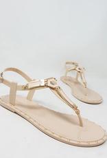 Geo Maze Sandals Nude