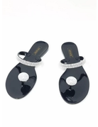 Out Shine Them Sandals Black