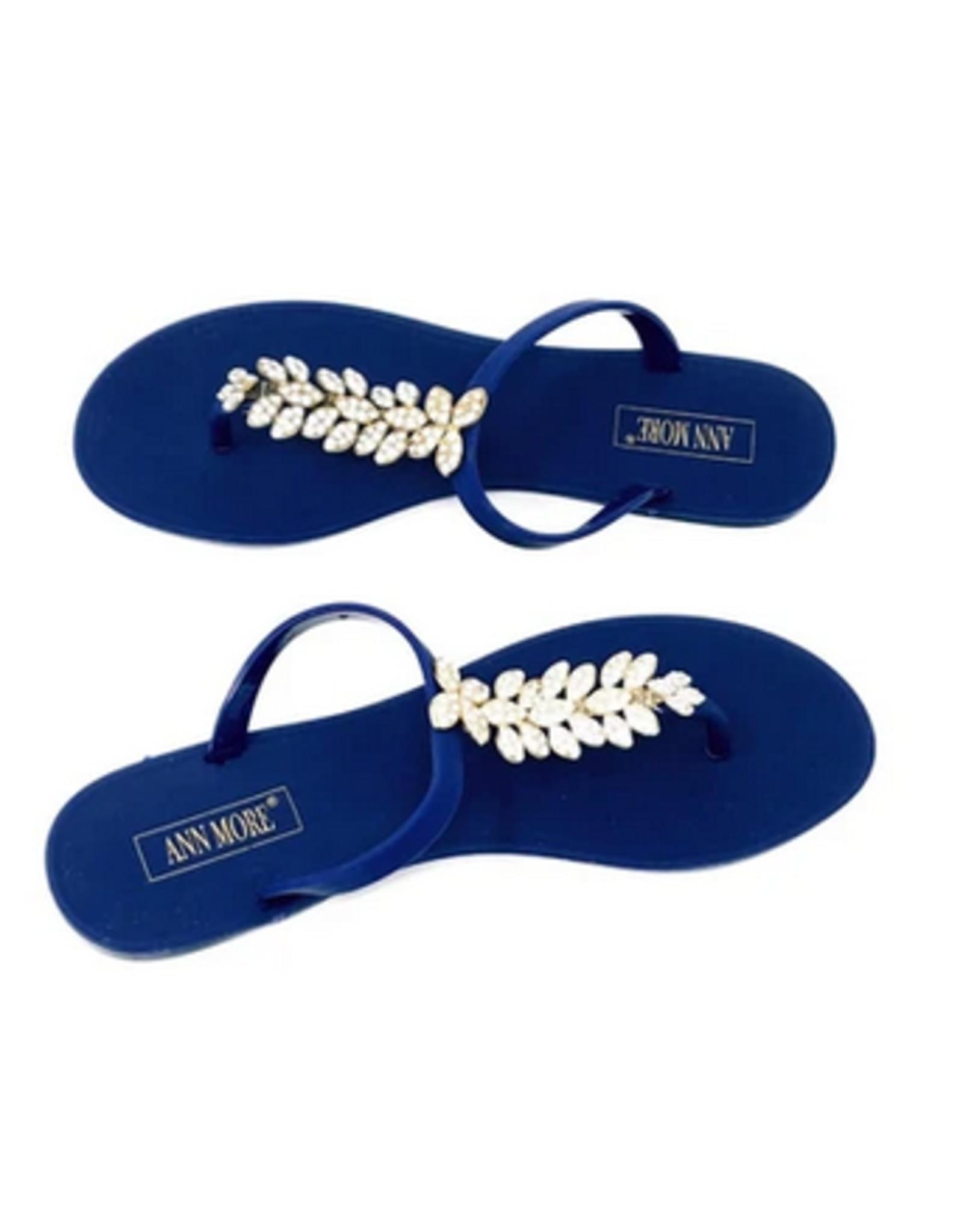 Don't Leaf Me Sandals Blue
