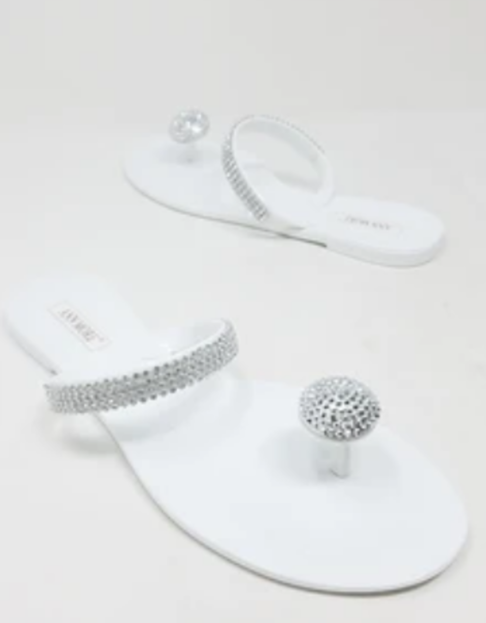 Out Shine Them Sandals White