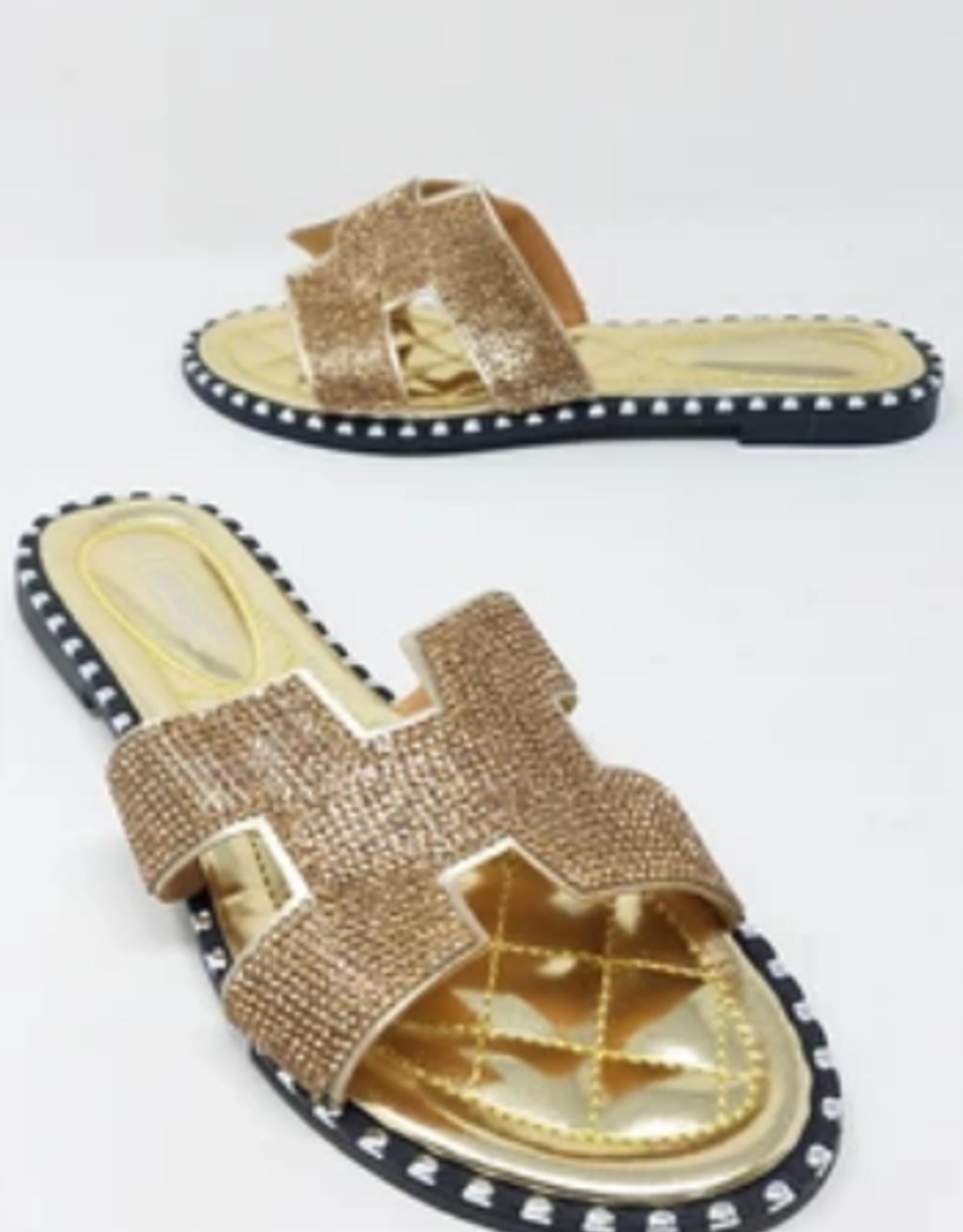Let It Shine Sandals Gold