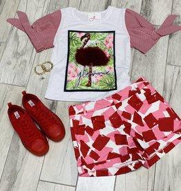 Flamingo Glamour Fur Top