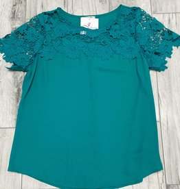 Pretty As They Come Crochet Top Teal