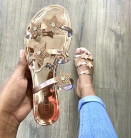 Shooting Stars Sandals Rose Gold