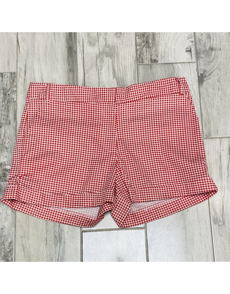 Follow Me Checkered Shorts Red