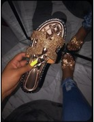 Let It Shine Sandals Rose Gold