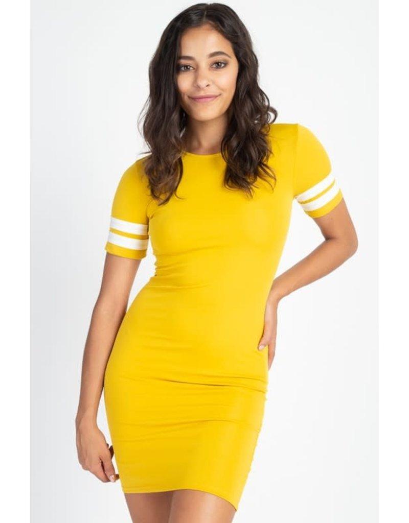 In A Flash Dress Mustard