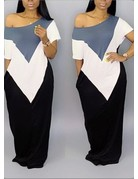 Think It Over Color Block Maxi Dress