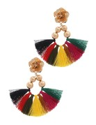 Flower Bomb Tassel Earrings Multi