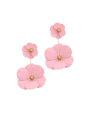 Floral Fascination Earrings Light Pink