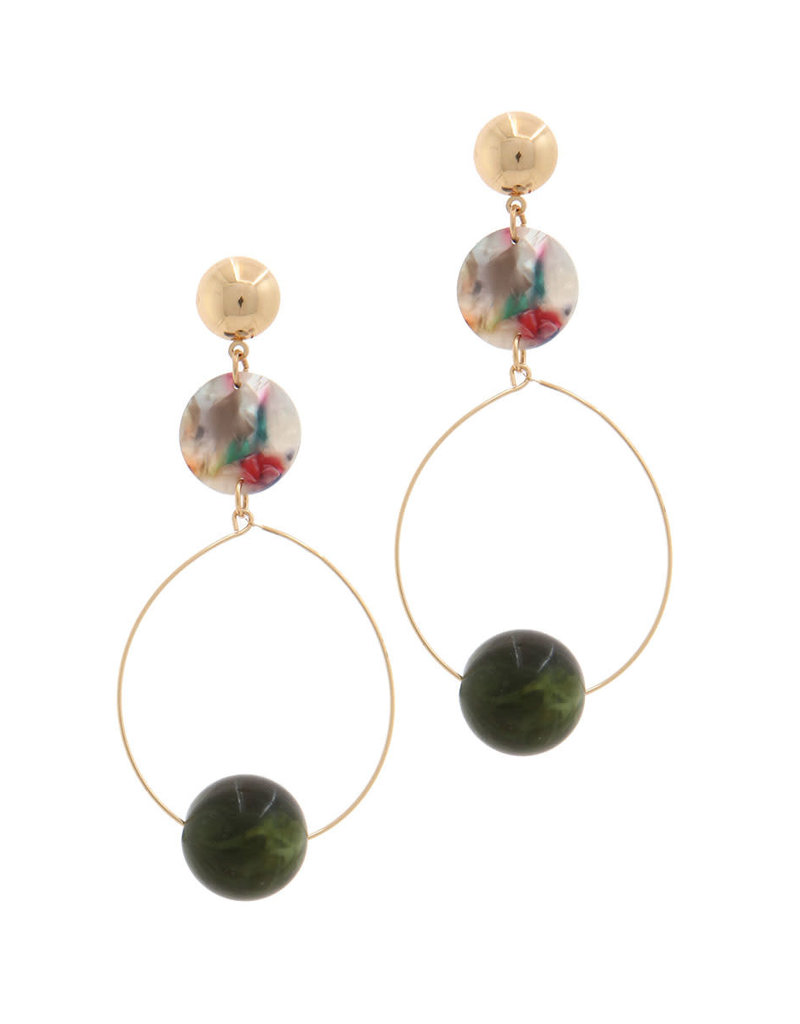 Caught Up Earrings Green