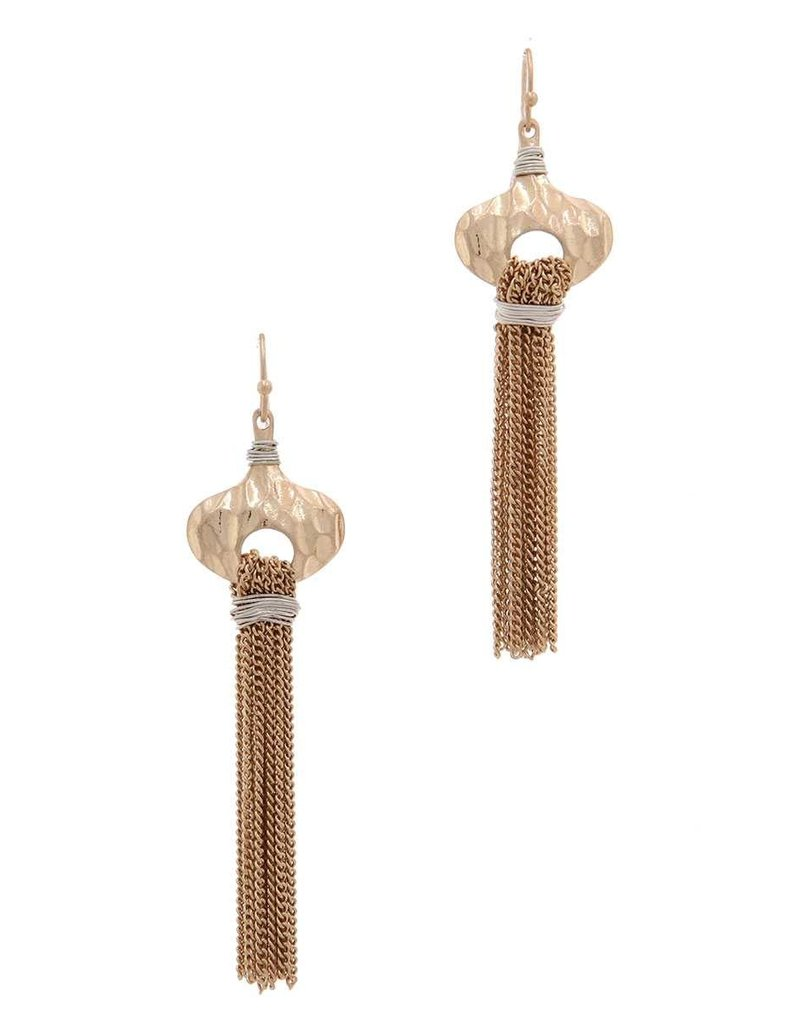 Chained To You Earrings Gold