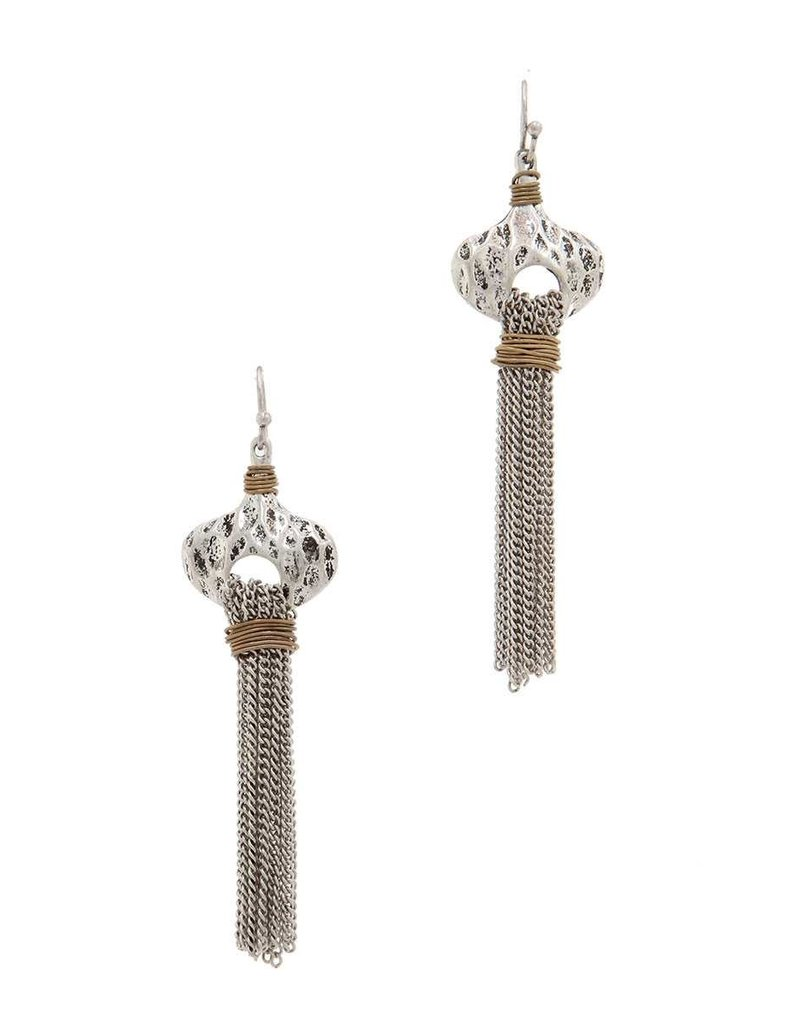 Chained To You Earrings Silver