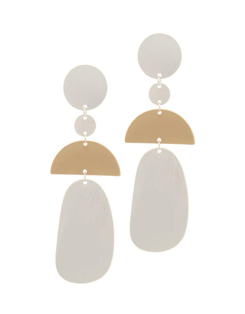 Geometric Feels Earrings Silver