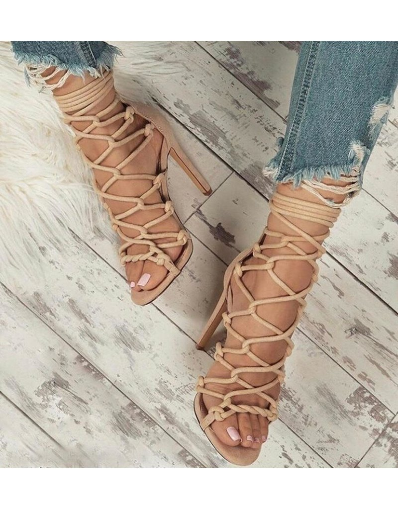 Laced Up Gang Heels