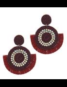 For Fun Tassel Earrings Red