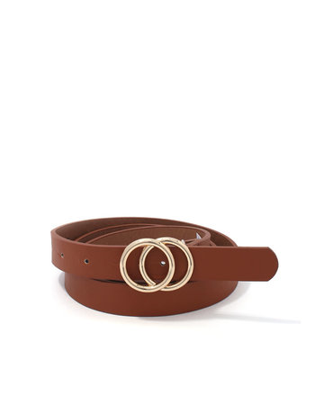 Only You Double Circle Belt - Tan