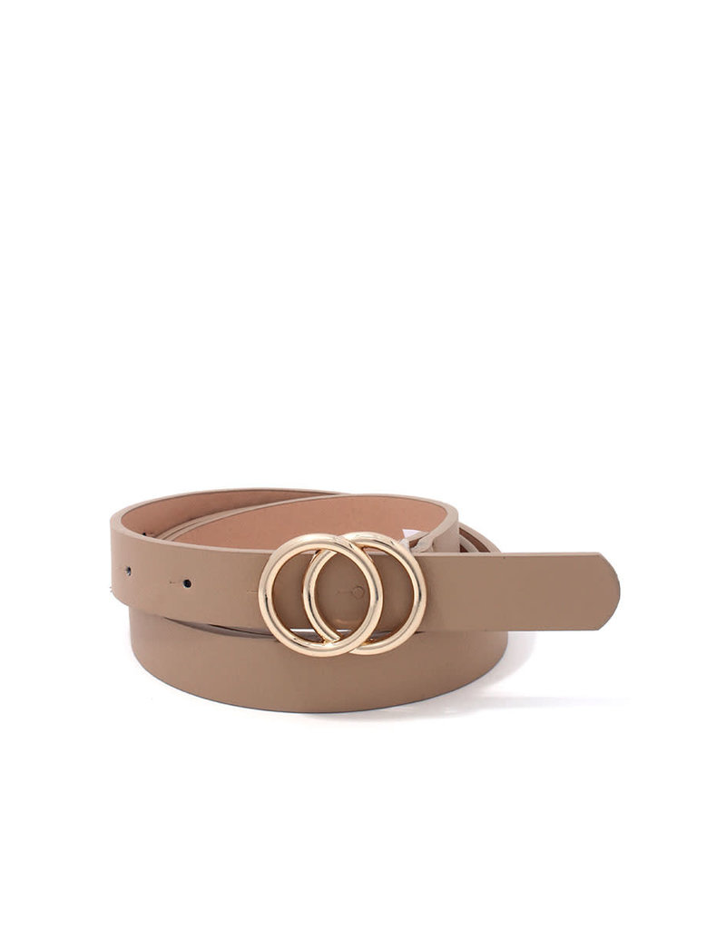 Only You Double Circle Belt - Taupe