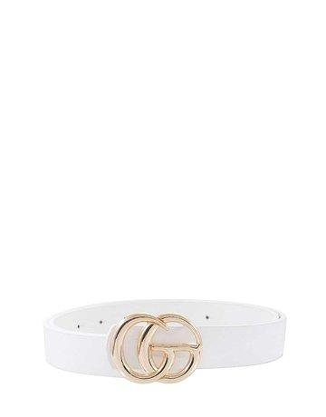 Look Twice Belt - White