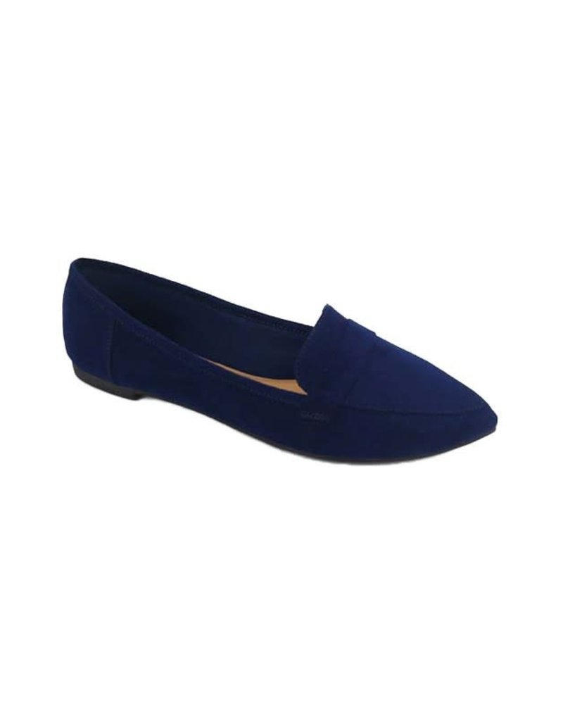 Adore Me Pointy Toe Flats Navy