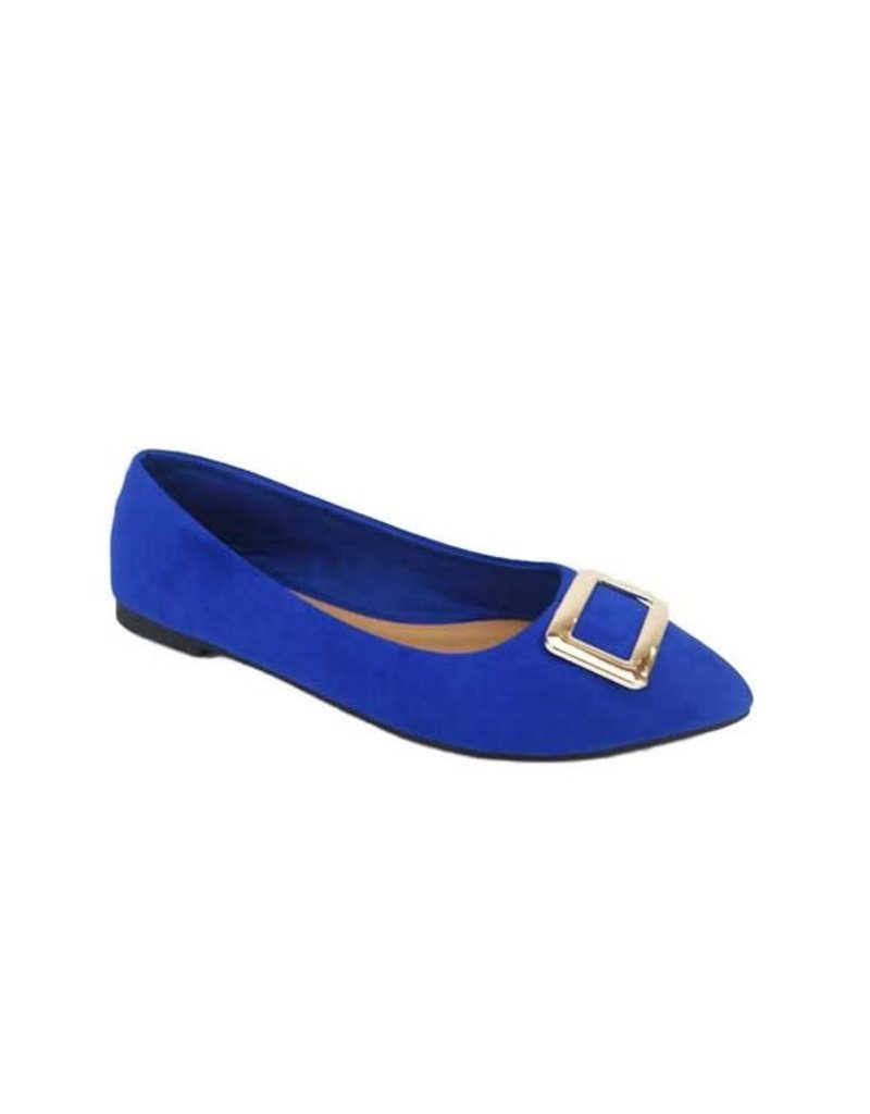 Buckle Up Flats Blue