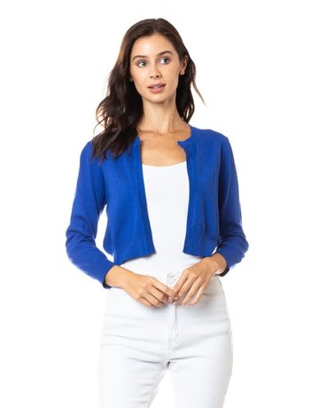 Royal Blue Cropped Coatie