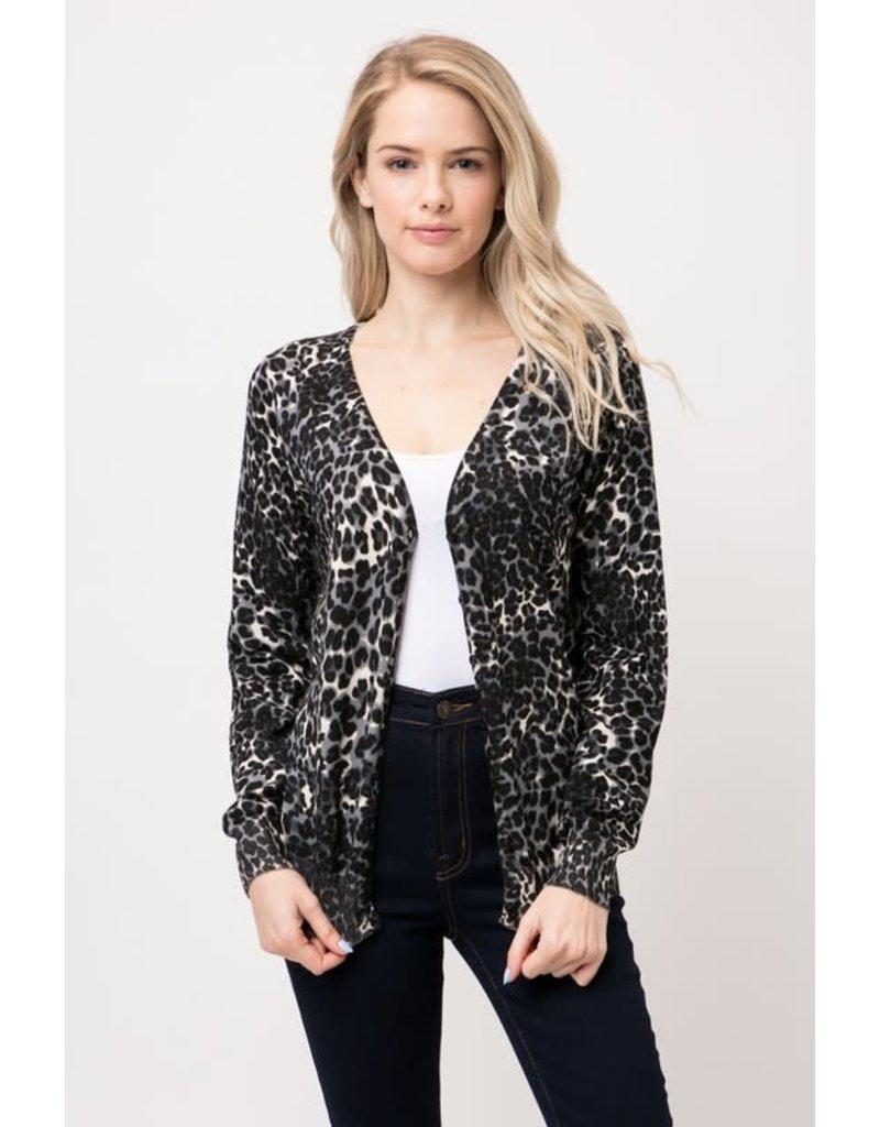 Leopard Button Up Cardigan