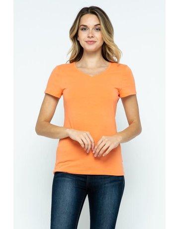 Melon V-Neck Knit Shirt PREMIUM COTTON