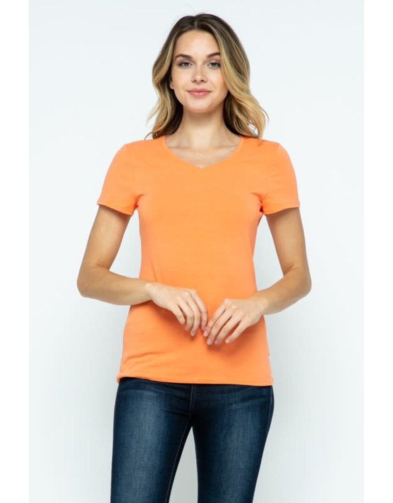 Melon V-Neck Knit Shirt PREMIUM COTTON