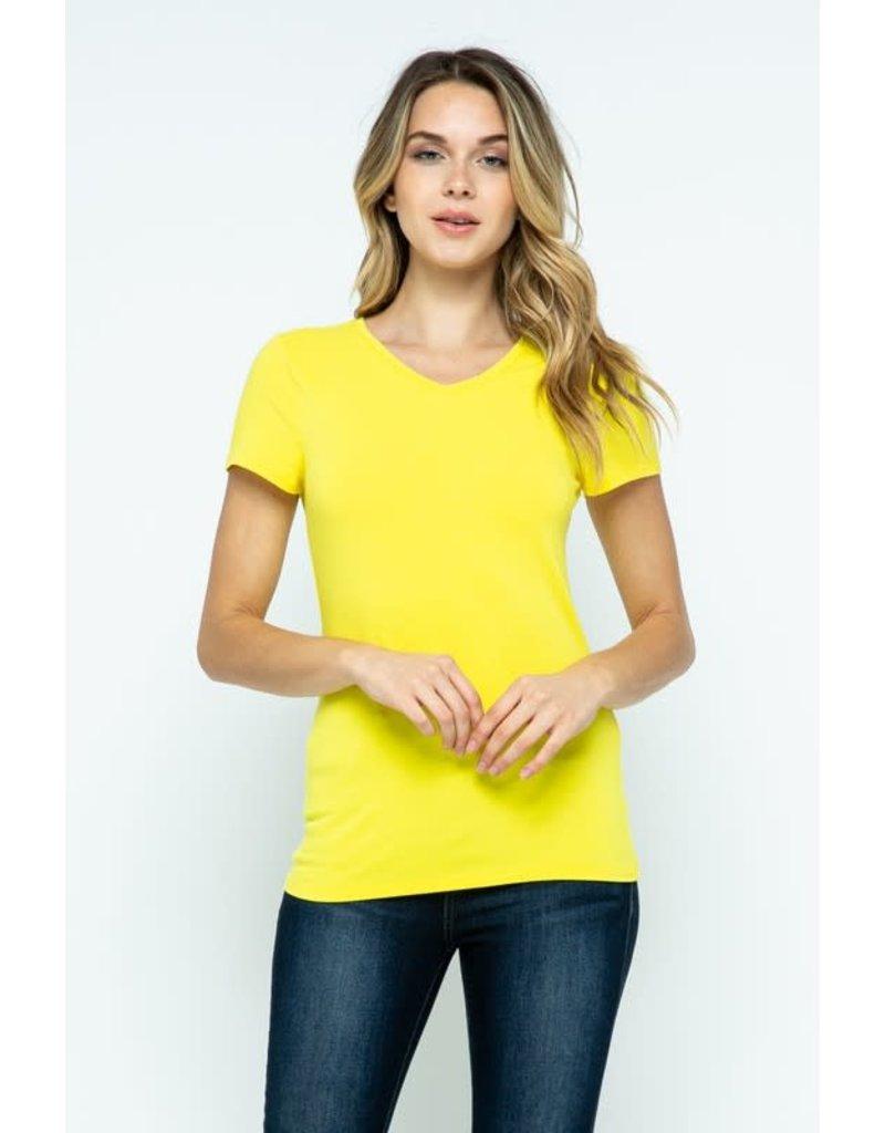 Buttercup V-Neck Knit Shirt PREMIUM COTTON