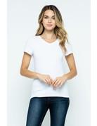 White V-Neck Knit Shirt PREMIUM COTTON