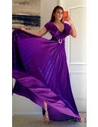 Fame & Fortune Velvet Maxi Dress Purple