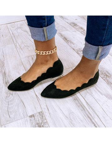 No Quitting Scallop Flats Black