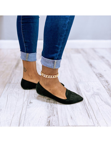 Adore Me Pointy Toe Flats Black