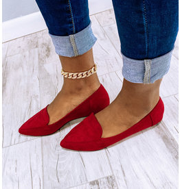 Adore Me Pointy Toe Flats Wine