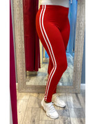 Double Down Leggings Red