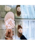 Flower Pop Jelly Sandals Nude