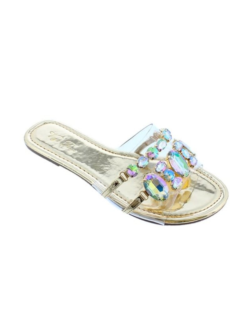Shine Through Jeweled Sandals