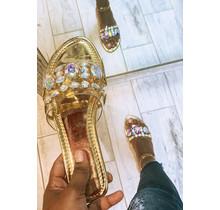 Shine Through Jeweled Sandals