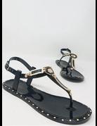 Geo Maze Sandals Black