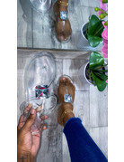 Boss Up Sandals Clear