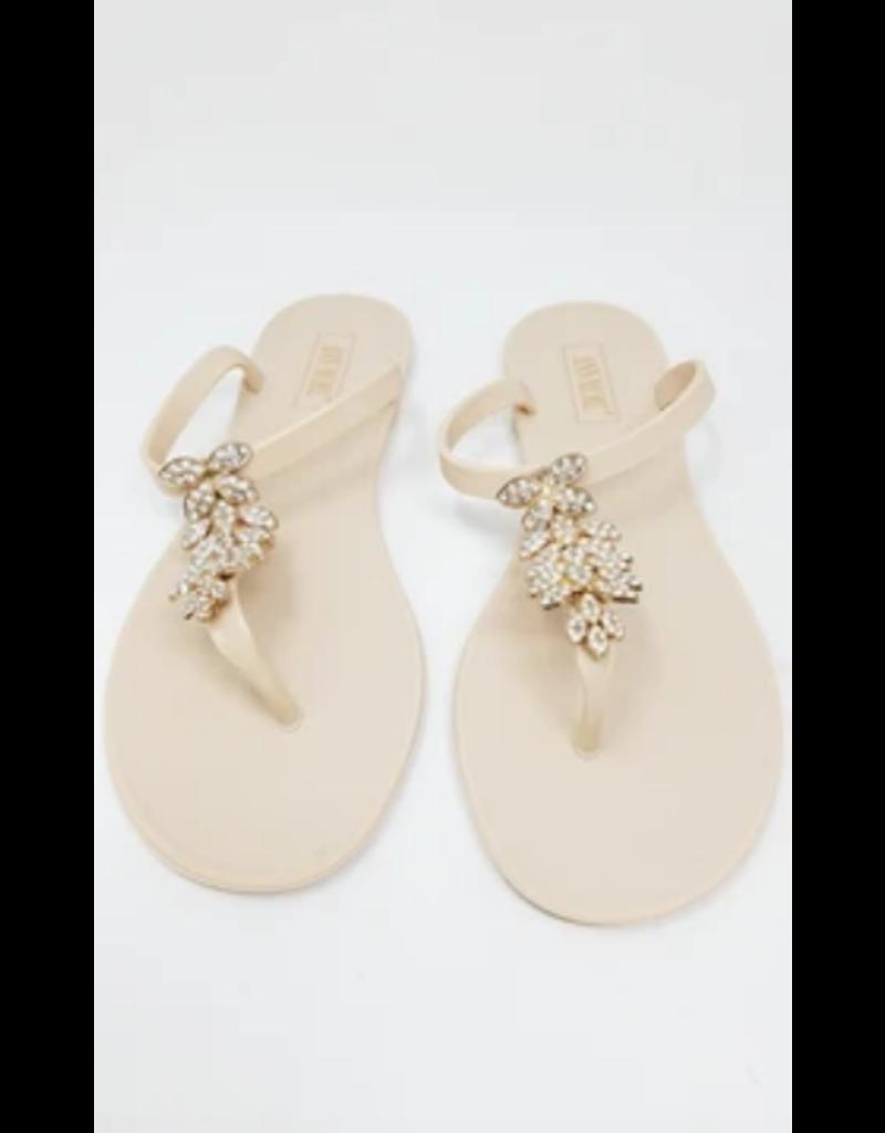 Don't Leaf Me Sandals Beige