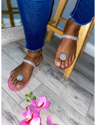 Out Shine Them Sandals Pink