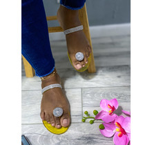 Out Shine Them Sandals Yellow