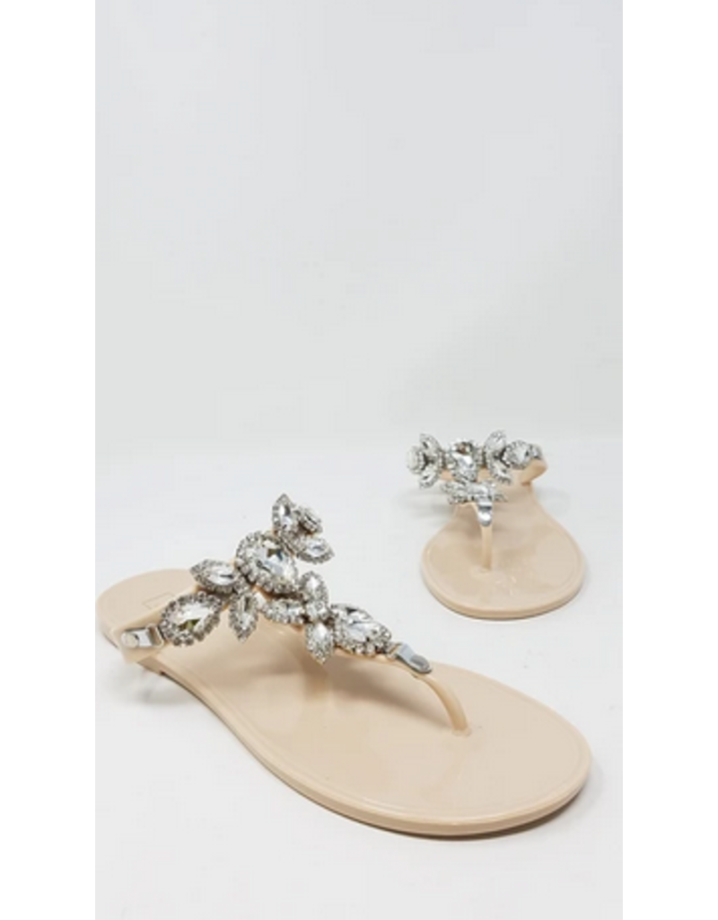 Got The Bling Sandals Beige