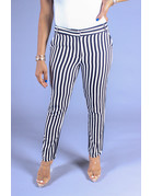Sounds About Striped Ankle Pants